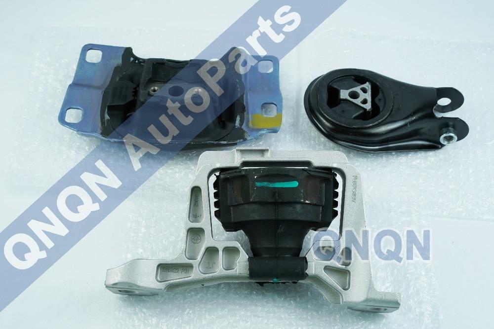 Motor Mount /& Transmission Mount Kit 3PCS for 11-17 Ford Fiesta w//o Turbo