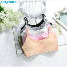 2017 5pcs/lot Child Cotton Bra For Young Girls Kids Teenage Underwear Wireless Small Training Puberty Bras Undergarment Clothes