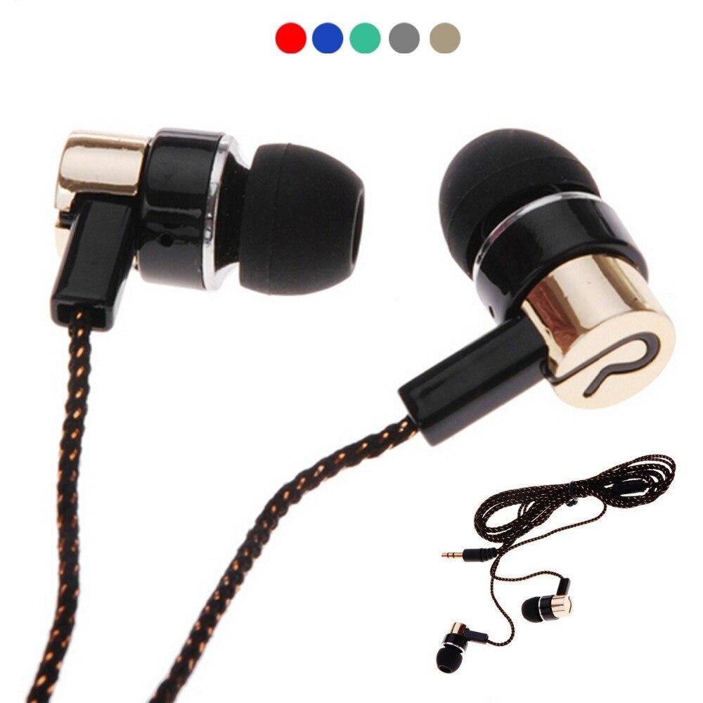 2016 New Arrival Metal 3.5mm Wired Earphones Standard Noise Isolating  Stereo In-ear Earphone Earbuds Headset
