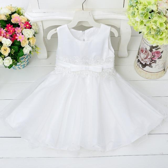 Retail sleeveless ball gown dress flower girls dress lace belt  bowknot  party dress   Size:3,4,6,8,10,12   L9002