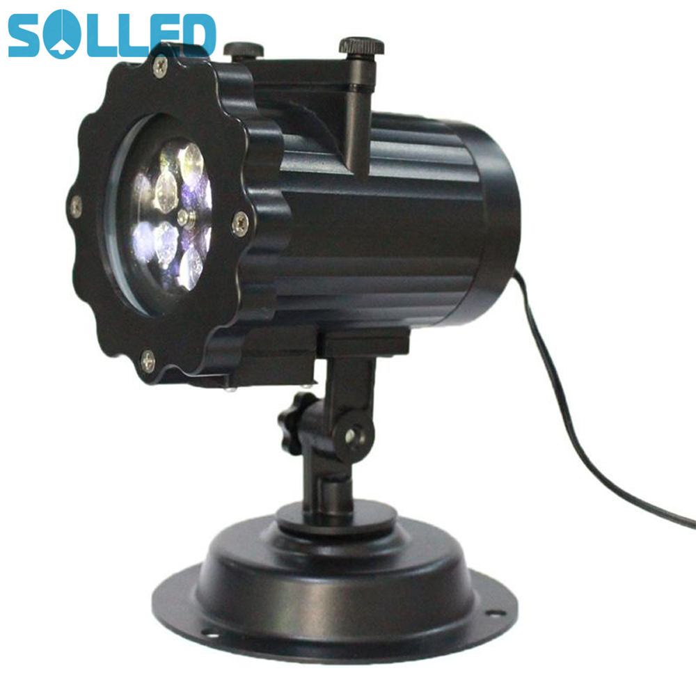 SOLLED Creative Christmas Projector Lights 16 Repaceable Slides Waterproof Outdoor Party Garden Wall House Light