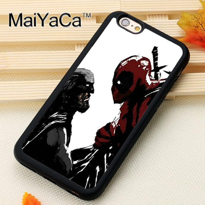 MaiYaCa Batman vs Deadpool Art For iPhone 6 6S Coque 360 Full Protection Soft TPU Back Cover For iPhone 6/6s Phone Cases