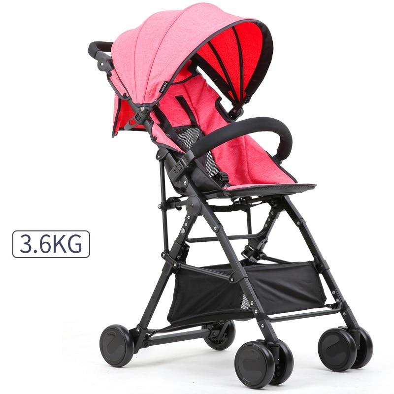 купить 3.6KG Light Weight Portable Baby Stroller With Storage Bag Handwash Baby Carriage Pram New Quality Wheels Kids Baby Stroller по цене 8291.62 рублей