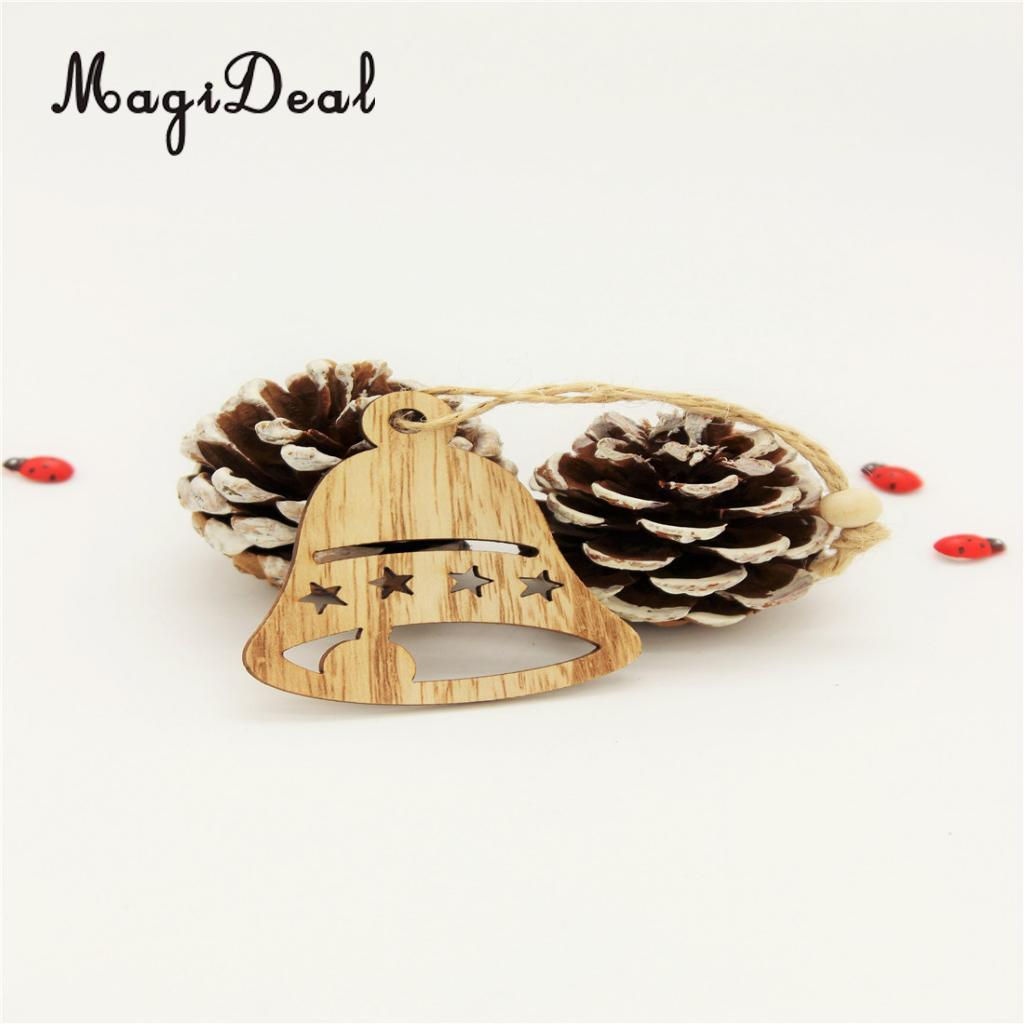 MagiDeal Vintage Style 12Pcs Assorted Wood Christmas Tree Hanging ...