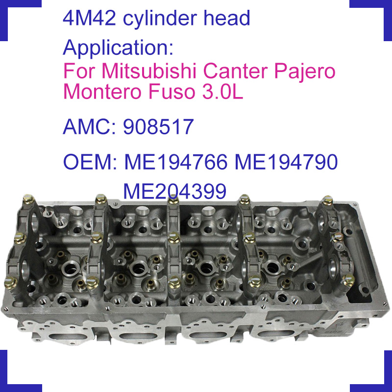 US $352 39 15% OFF|4M42 4M42T bare engine cylinder head 908517 908 517  ME194766 ME194790 ME204399 for Mitsubishi Canter Pajero Montero Fuso  3 0L-in