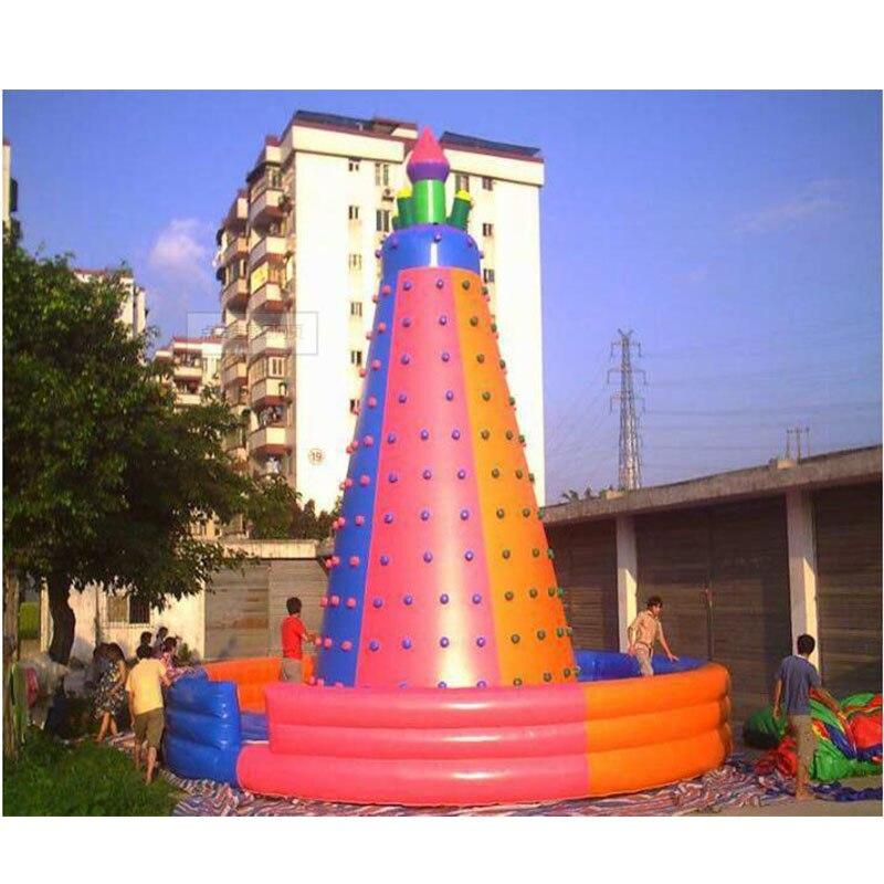 Grimpeur gonflable coloré/mur d'escalade gonflable Durable