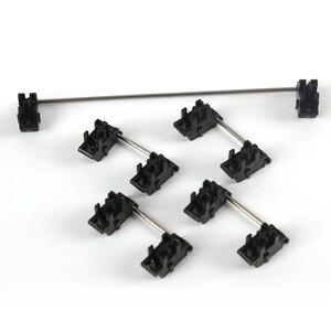 Plate mounted Black Cherry Stabilizers Clear Satellite Axis 7u 6.25u 2u 3u 6u For Mechanical Keyboard Modifier Keys(China)