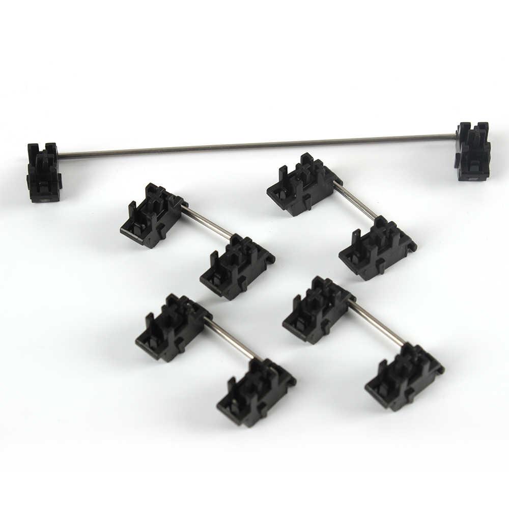 Plate mounted Black Cherry Stabilizers Clear Satellite Axis 7u 6.25u 2u 3u 6u For Mechanical Keyboard Modifier Keys