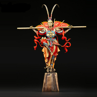 Китайский стиль медная статуя Будды солнце Гоку домашняя декоративная Скульптура Ручная роспись декоративная статуя Будды