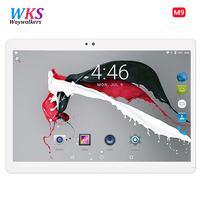 WKS 2018 Octa Core 10.1 Inch tablet 1920X1200 Android Tablet ROM 64GB Computer Dual SIM Bluetooth GPS 8MP 10 Tablet PC
