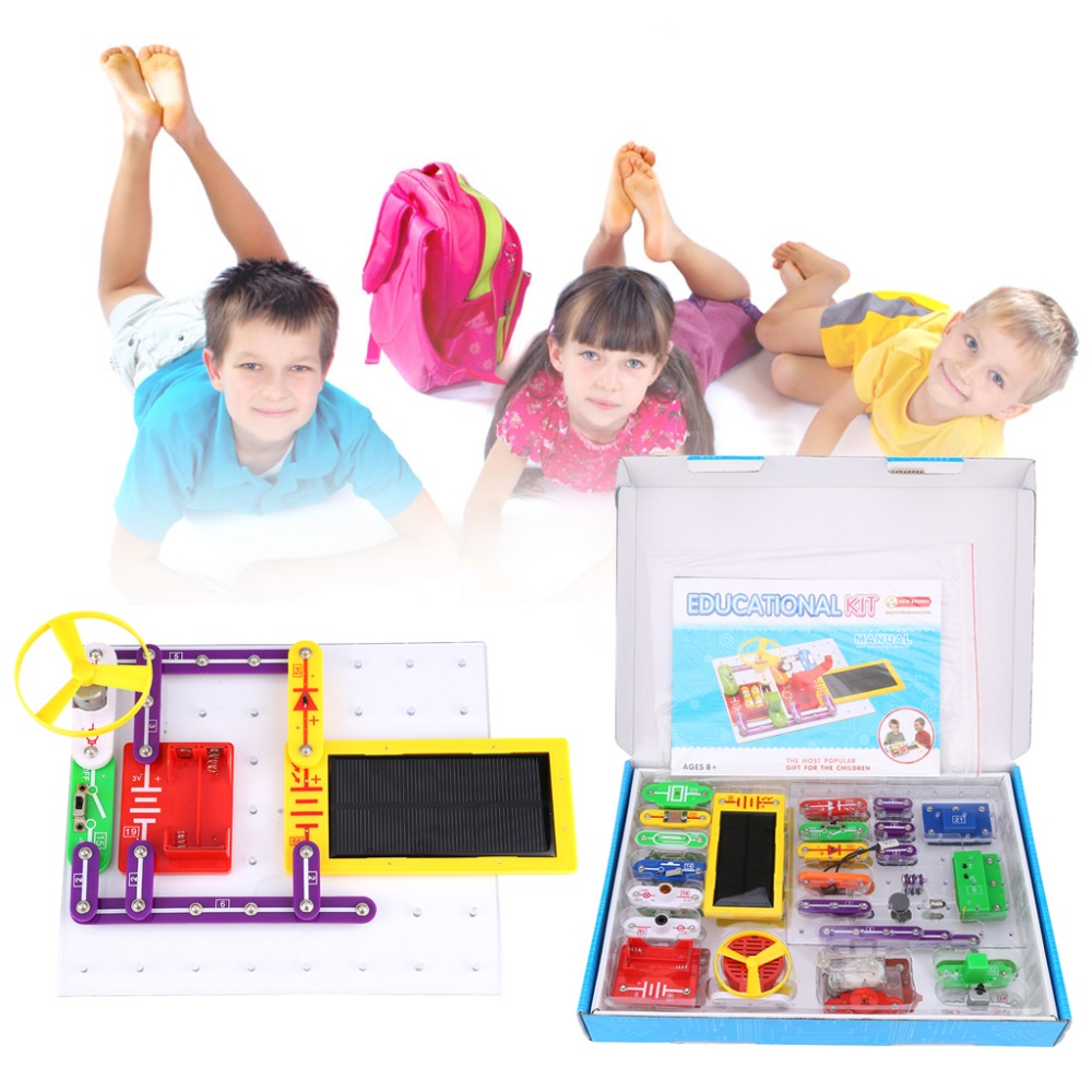 Kids Educational Toys Technic Creative Snap Circuits Electronics Manual Discovery Kit Science For Children Perfect Gift In Blocks From Hobbies On