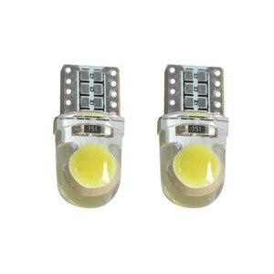 Image 3 - 100x brilhante t10 cob led 40ma silicone caso instrumento luz da placa de licença lâmpadas cunha lâmpada estilo do carro led 12 v branco 7 cores