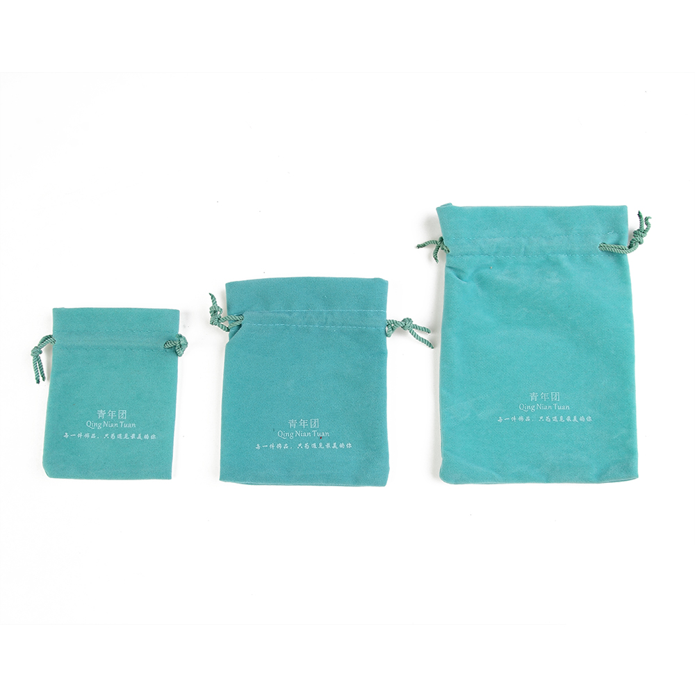 Fine Square Velvet Gift Bags Wedding Jewelry Pouches 500pcs 12*17cm White Green Color Custom Logo Making ...