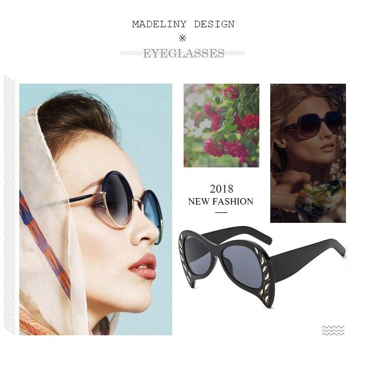 86329de990 MADELINY 2018 gafas de sol de moda de mujer de mariposa de marca de  diseñador de personalidad Vintage de gran tamaño gafas de sol de mujer MA248