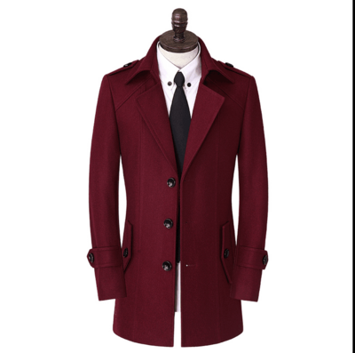 New Arrival Winter Wool Coat Men's Slim Overcoat Casual Thermal Trench Outerwear Obese Plus Isze S -4xl 5xl 6xl 7xl 8xl 9xl 10xl Providing Amenities For The People; Making Life Easier For The Population