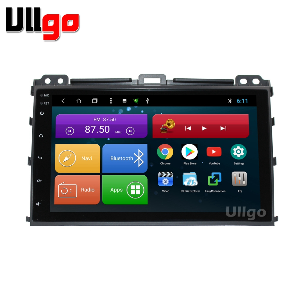 9 pouce Octa base Android 7.1 Unité De Tête de Voiture pour Toyota Prado 120 Lexus GX470 Autoradio GPS avec BT radio RDS Miroir-lien Wifi