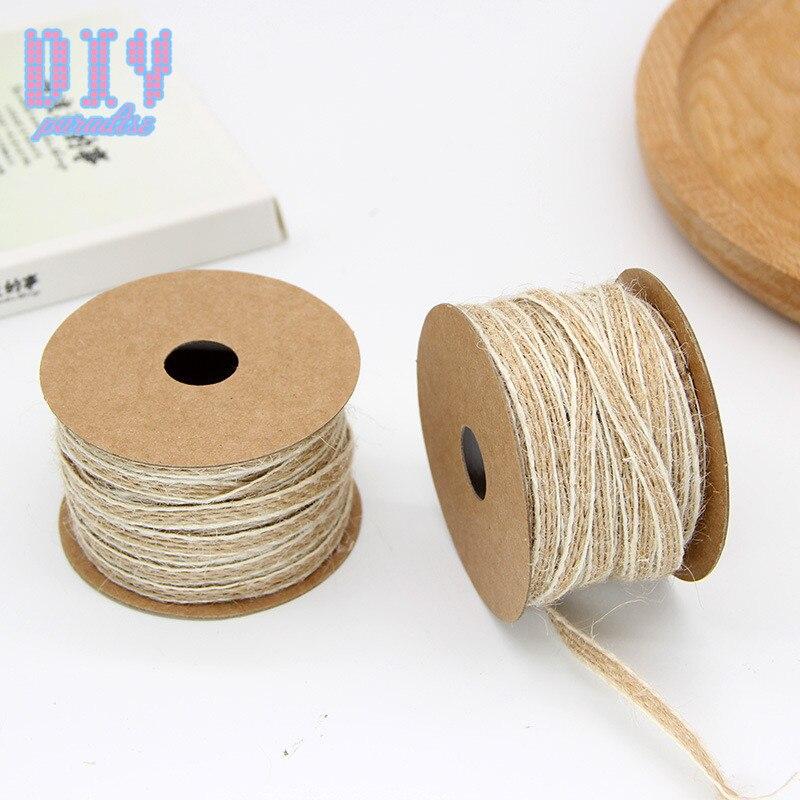 10M// Roll Cut Edge Faux Burlap Ribbon Hessian Craft Wedding Vintage Jute