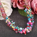 Wholesale Brand Fashion Jewelry 100% Natural Stone Lose Beads Choker Neckalce For Women 2016 DIY New Statement Collar Necklaces