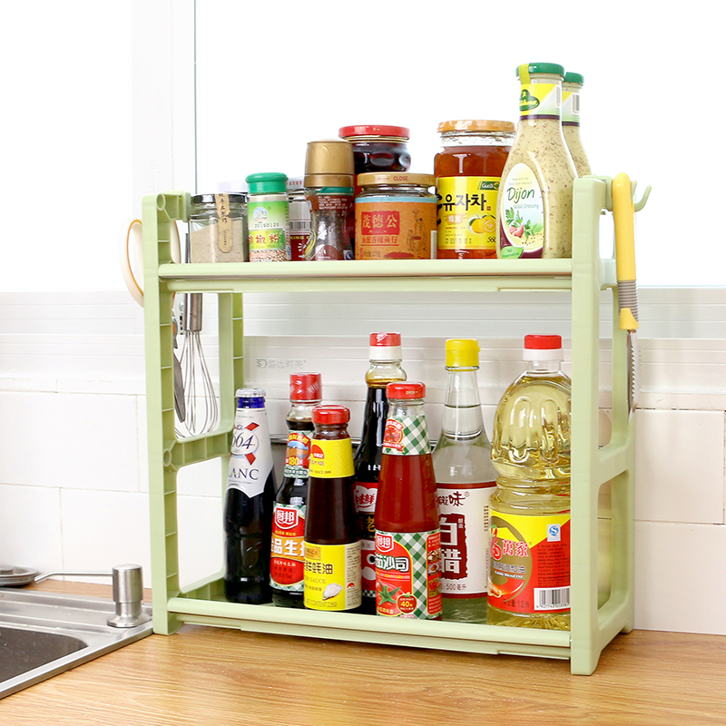 A1 Household put soy sauce vinegar rack kitchen rack spice rack seasoning box supplies oil salt vinegar storage rack LU42417 цена