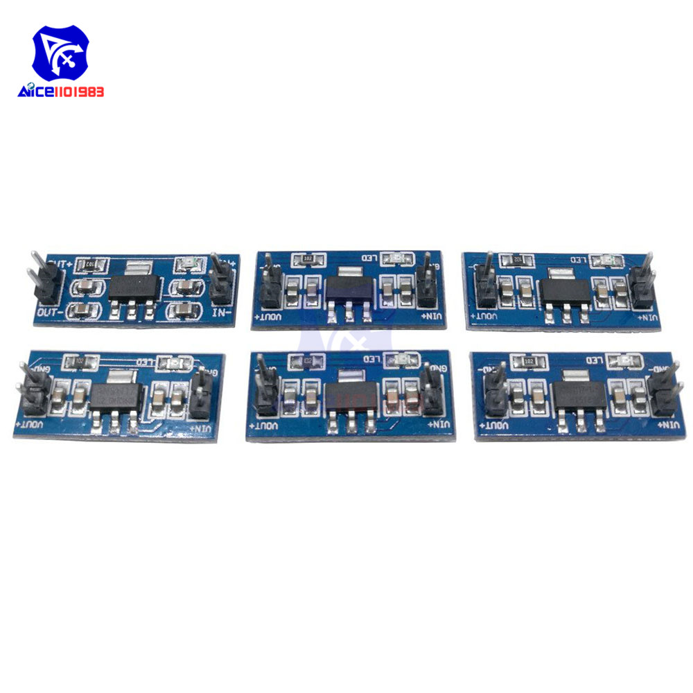 5PCS/Lot SMD AMS1117 DC-DC Step Down Buck Converter Power Supply Module DC 4.75-12V To 1.2V 1.5V 1.8V 2.5V 3.3V 5.0V For Arduino