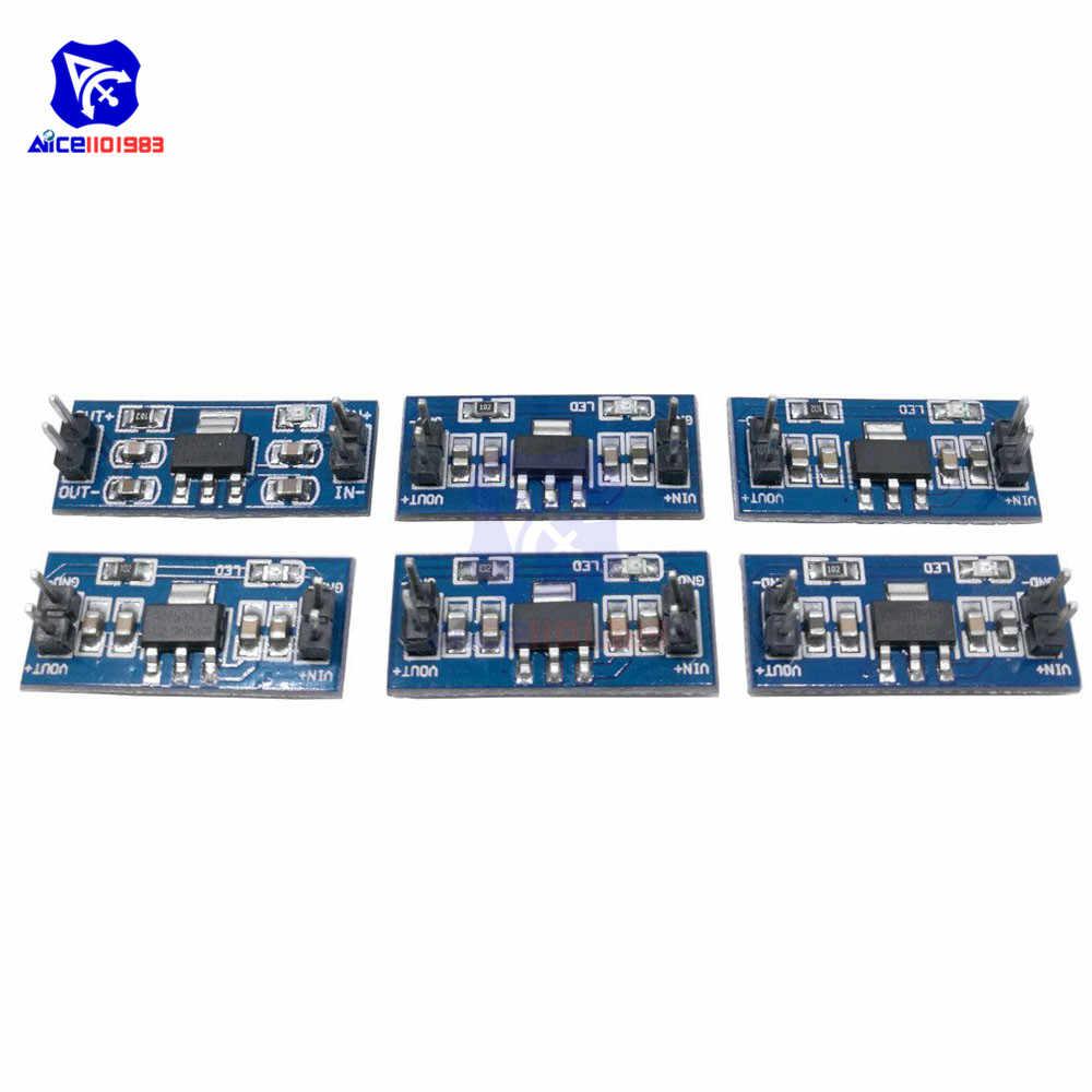 SMD AMS1117 DC-DC convertidor Buck de reducción módulo de fuente de alimentación DC 4,75-12-12 V 1,2 V 1,5 V 1,8 V 2,5 V 3,3 V 5,0 V para Arduino