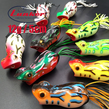 Lunker frog 12g 5cm pike snakehead goyard cat fish pesca fishing Lure artificial bait soft skirt colorful popper