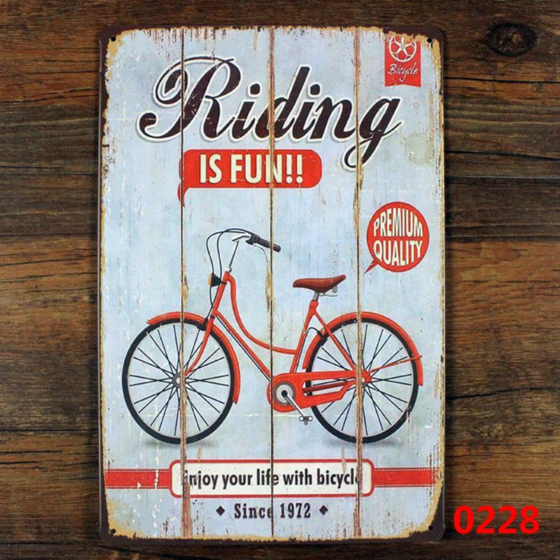 Tin Wall Decor bicycle metal tin sign wall decor , riding bicycle poster vintage