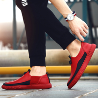 Thestron Genuine Leather Shoes Men 2018 New Mens Shoes Casual Red Loafers Slip on Red Black White Footwear Hot Sale Luxury Brand