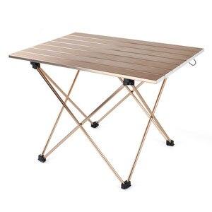 Image 1 - Açık Kamp Taşınabilir Ve Kolay Tel çizim masası Alüminyum Alaşım Katlanır Masa Barbekü Masa Piknik masa lambası Kafein