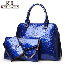 3 Bags/Set Patent Leather Handbags
