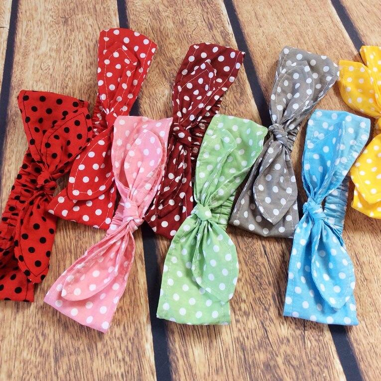 новый женские аксессуары для волос тюрбан узел галстука головной стяжкой обёрточная бумага винтаж хлопка обёрточная бумага в горошек головные уборы 10 шт./лот