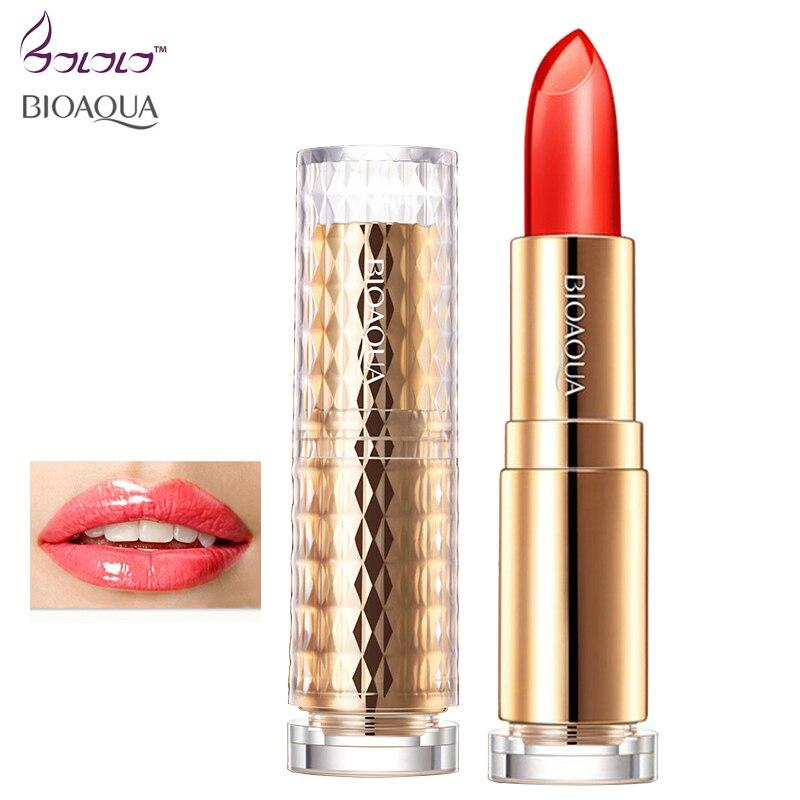 BIOAQUA moisture charm color waterproof jelly lipstick long Lasting moisturizing lip gloss not fade lip care lips makeup beauty 6
