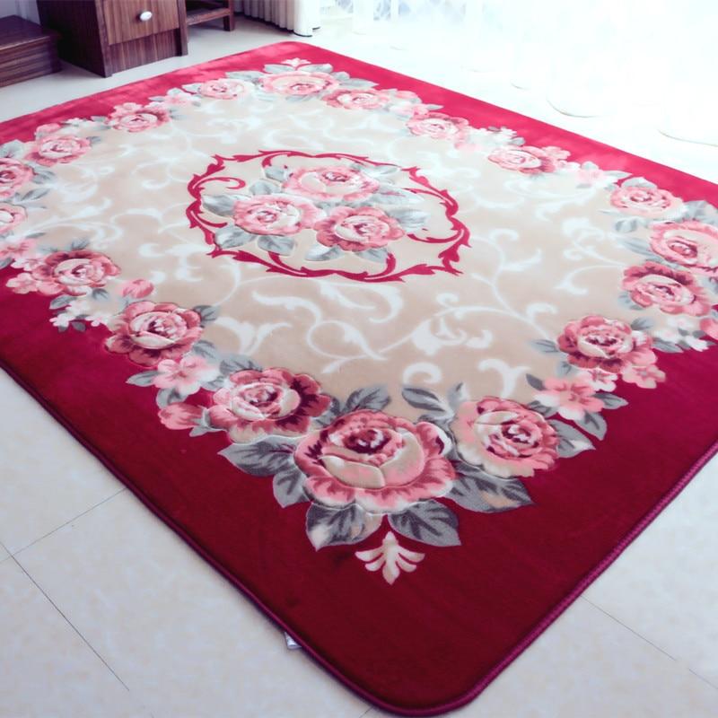 200X300CM Pastoral Rose Flower Carpets For Living Room Home Bedroom ...