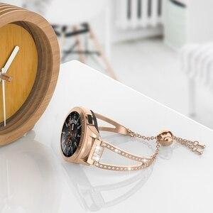 Image 3 - Reloj de 42mm para mujer, pulsera de joyería ostentosa de 20mm, correa de liberación rápida para Samsung Galaxy Watch 42mm/Galaxy Watch Active 40m