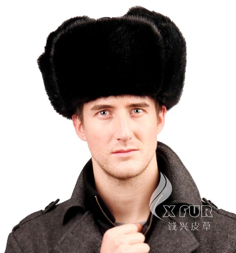 CX-C-106A2 Aliexpress Retail Sale Men's Fur Hat Genuine Mink Fur Hats