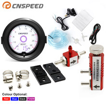 2 inch / 52mm Turbo Boost Gauge Liquid Crystal 7 Color Virtual Pointer Display Turbo Table PSI with Adjustable Controller Kit(China)