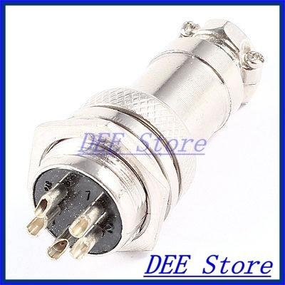 GX16 16mm Dia Aviation Plug Circular Micro Connector 5 Pins Silver Tone djt16f21 16jn [ circular mil spec connectors djt 16c 16 16 skt plug] mr li
