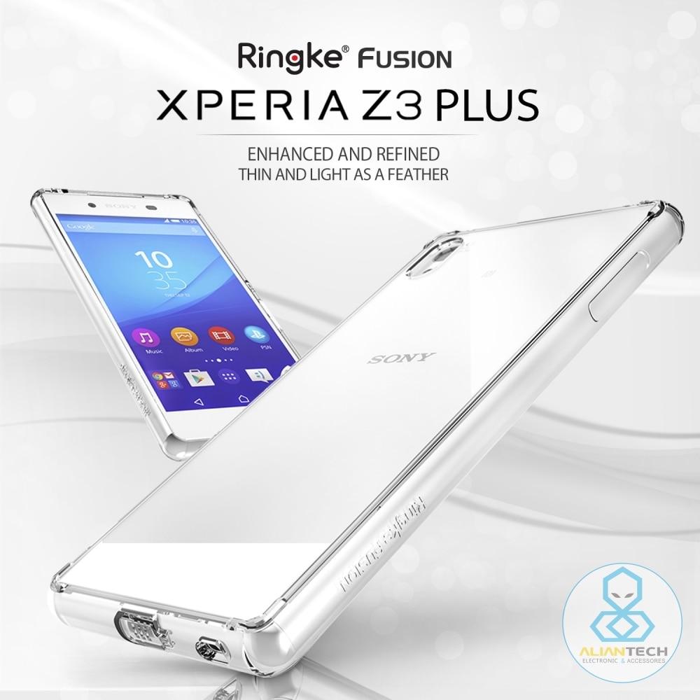 imágenes para 100% Original RINGKE FUSIÓN Caso para Xperia Z3 Plus/Z3 +/Caso para Sony Xperia Z3 Z4 Clara de Absorción de Choque Trasero Plus