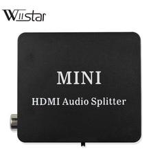 Divisor de Audio HDMI a HDMI con TOSLINK óptico SPDIF + extractor de Audio estéreo de 3,5mm, convertidor HDMI divisor de Audio