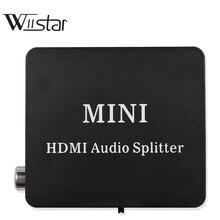 HDMI Audio extractor Splitter HDMI a HDMI con la Ottico TOSLINK SPDIF + 3.5mm Stereo Audio Extractor Convertitore di HDMI Audio splitter