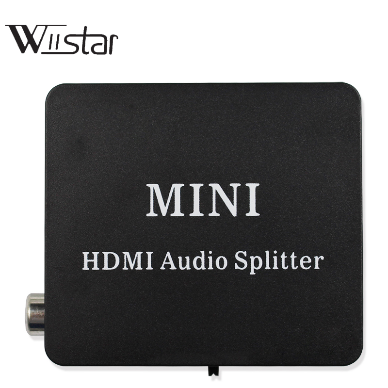 HDMI Audio extractor Splitter HDMI to HDMI with Optical TOSLINK SPDIF+3.5mm Stereo Audio Extractor Converter HDMI Audio Splitter