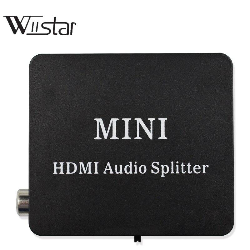 HDMI Extractor de audio Splitter HDMI a HDMI con óptico Toslink SPDIF + 3.5mm audio estéreo convertidor del extractor de audio HDMI divisor
