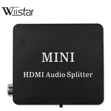 HDMI אודיו extractor ספליטר HDMI ל hdmi עם אופטי TOSLINK SPDIF + 3.5mm סטריאו אודיו Extractor ממיר HDMI אודיו ספליטר