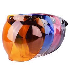 NENKI Universal 3-Snap Flip up Adjustable Lens Bubble Visor Face Shield Mask for Motorcycle Helmet Moto Capacete Casco Casque