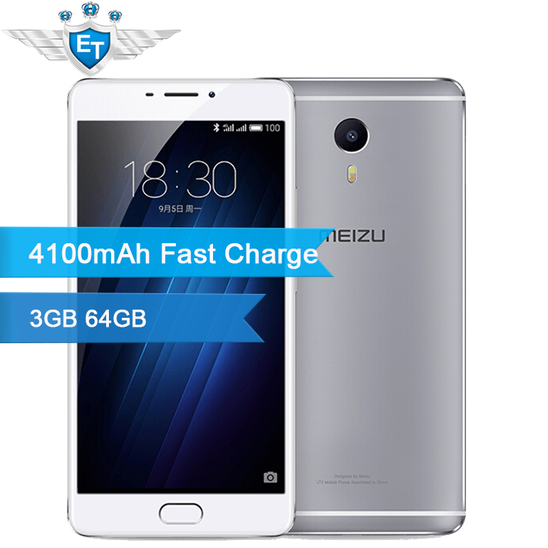 Цена за Оригинальный Meizu M3 Макс Смартфон 3 Г RAM 64 Г Глобальная ROM 6.0 дюймов Огромный Экран 1920x1080 P10 Helio Окта основные 4100 мАч отпечатков пальцев