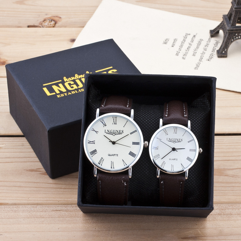2PCS Luxury Brand Couple Men Women Watches Erkek Kol Saati Quartz Wristwatches Lovers Clock Relojes Mujer 2019 Gift Box