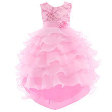 цена на Summer Flower Girl Dresses Wedding Party Kids Birthday Princess Dress for Girls Infant Children Clothing Girl Baby Clothes 2-8 y