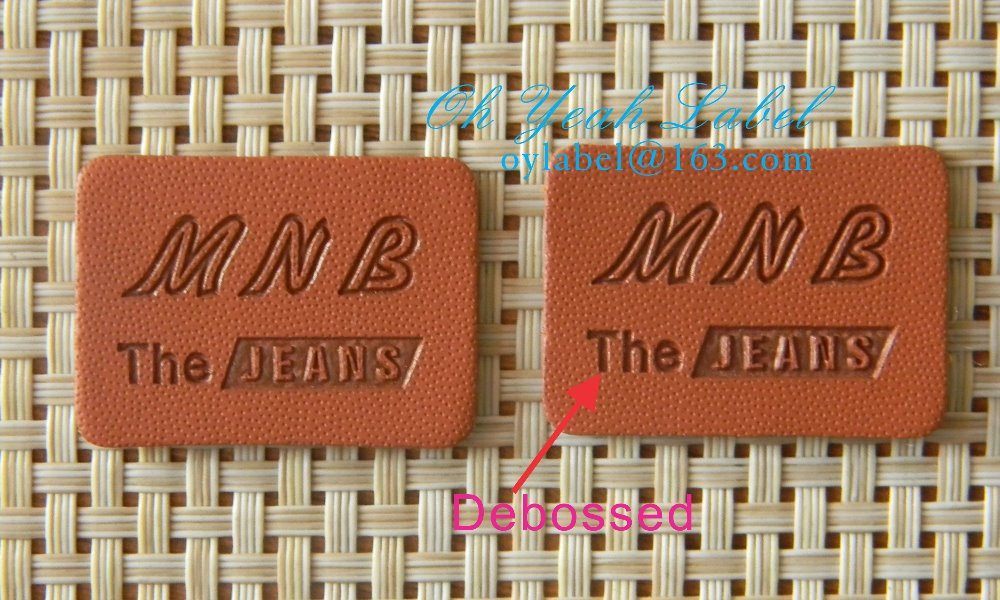Custom made high quality leather label leather patch pu patch
