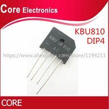 200 TEILE/LOS KBU810 KBU 810 8A 1000V diode bridge rectifier neue