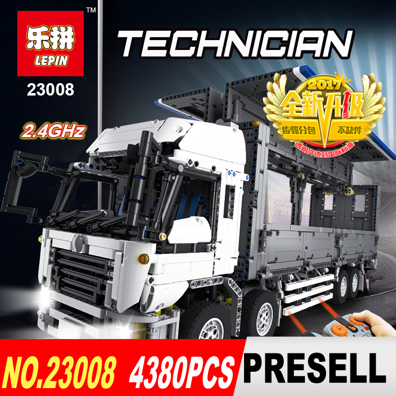 NEW LEPIN 23008 technic series 4380pcs MOC truck Model Building blocks Bricks kits Compatible of children gifts